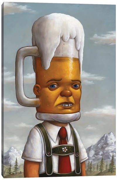 Beer Head Canvas Art Print