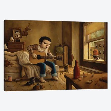 The Man Who Laughs Canvas Print #BOD31} by Bob Dob Canvas Art