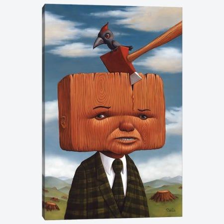 Block Head Canvas Print #BOD3} by Bob Dob Art Print