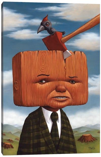 Block Head Canvas Art Print