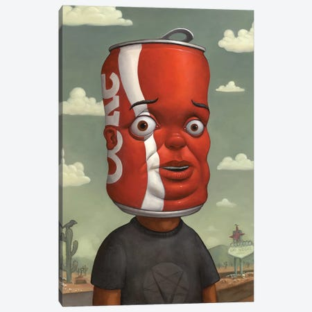 Coke Head I Canvas Print #BOD6} by Bob Dob Canvas Artwork