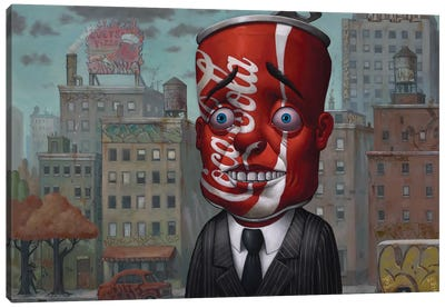 Coke Head II Canvas Art Print