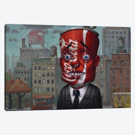 Coke Head II Canvas Print #BOD7} by Bob Dob Canvas Artwork