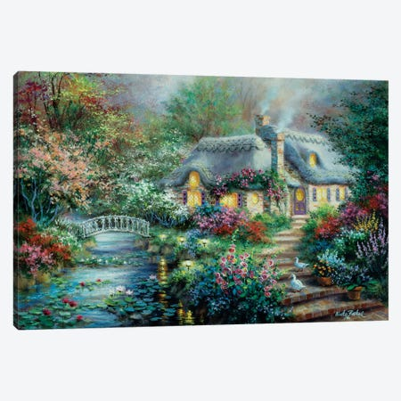 Little River Cottage Canvas Print #BOE100} by Nicky Boehme Canvas Wall Art