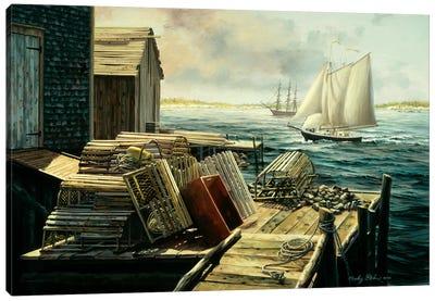 Lobster Pots New England Canvas Print #BOE101
