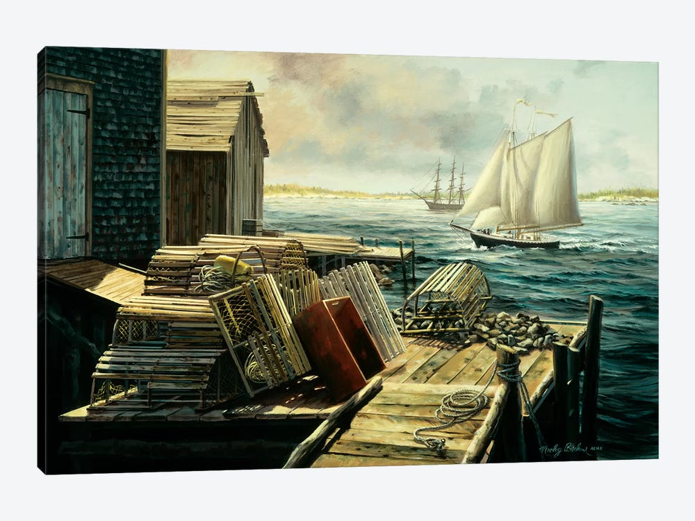 Lobster Pots New England by Nicky Boehme 1-piece Canvas Art Print