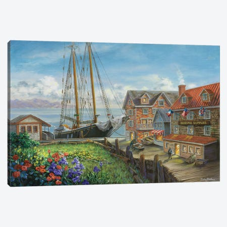 Marine Supplies Canvas Print #BOE104} by Nicky Boehme Art Print