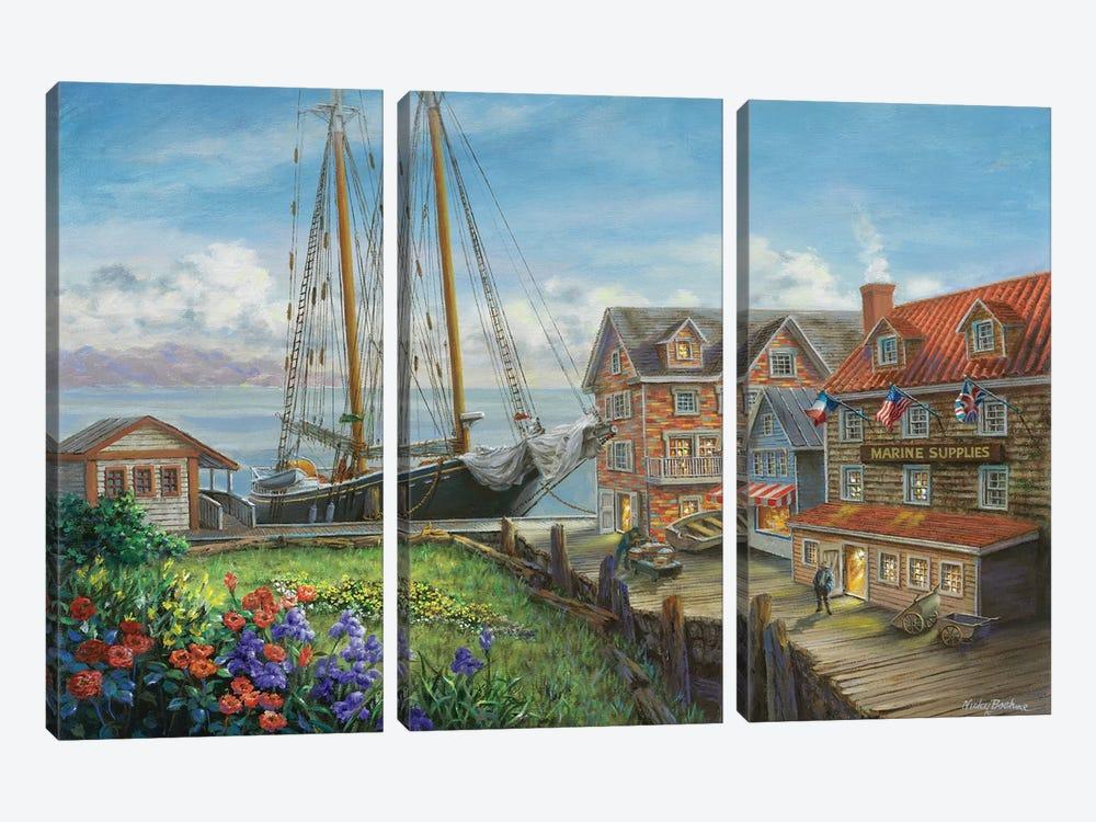 Marine Supplies by Nicky Boehme 3-piece Canvas Art