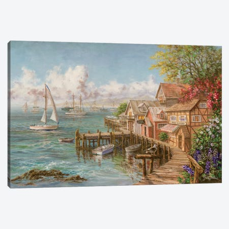 Mariner's Haven Canvas Print #BOE105} by Nicky Boehme Art Print