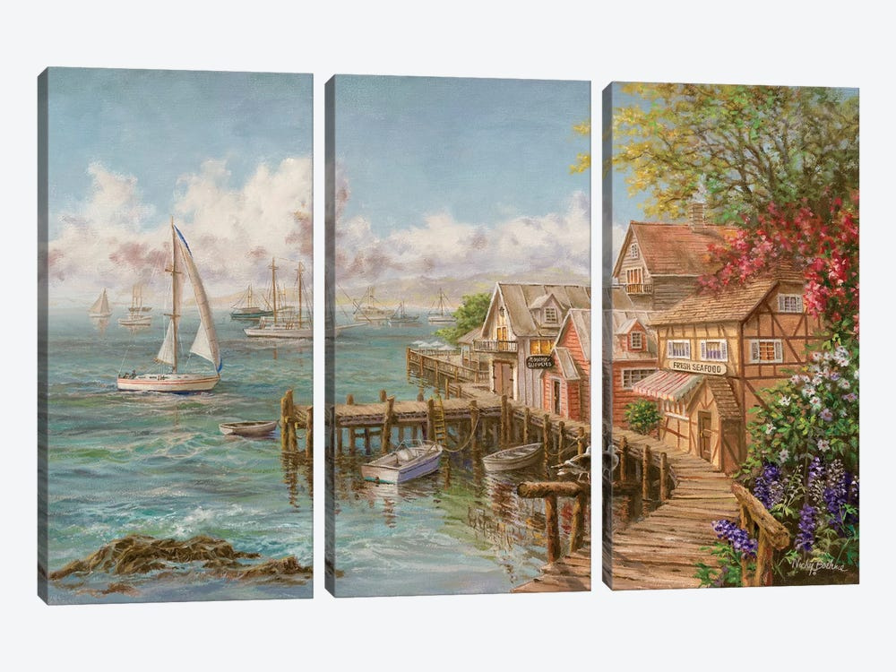 Mariner's Haven by Nicky Boehme 3-piece Canvas Print