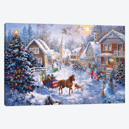 Merry Christmas Canvas Print #BOE108} by Nicky Boehme Canvas Artwork
