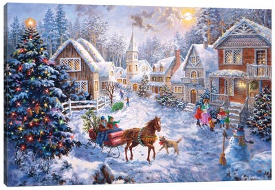 Merry Christmas Canvas Art Print