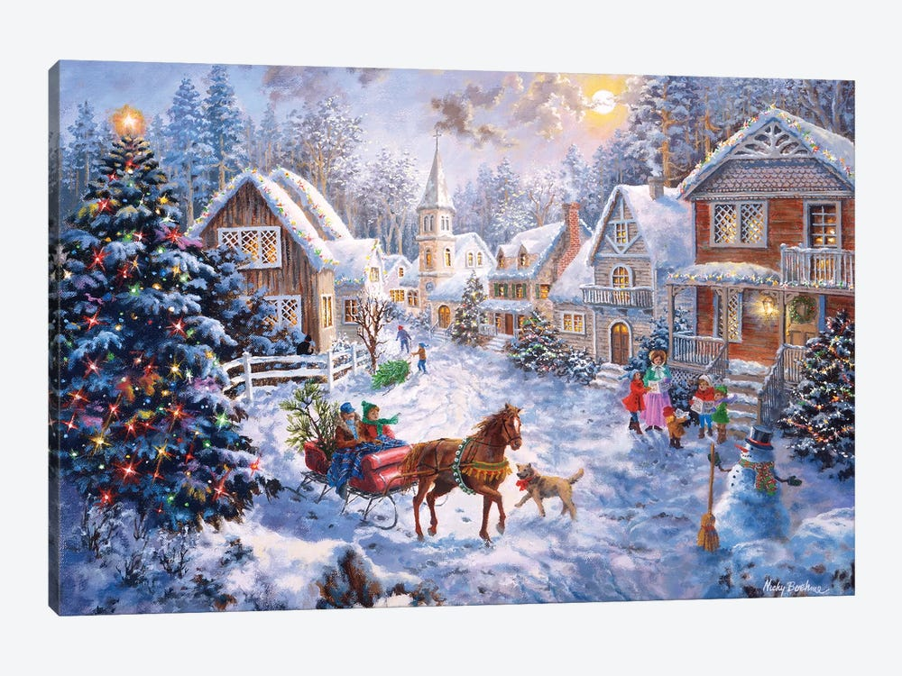Merry Christmas by Nicky Boehme 1-piece Canvas Artwork