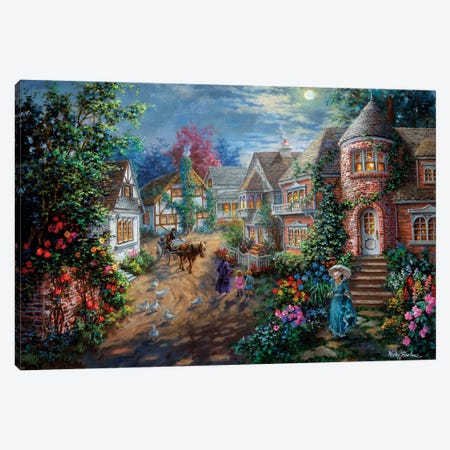 Moonlight Splendor Canvas Print #BOE109} by Nicky Boehme Canvas Wall Art