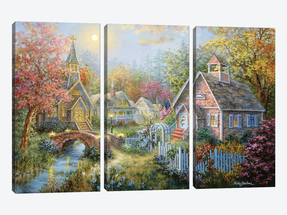 Moral Guidance by Nicky Boehme 3-piece Canvas Print