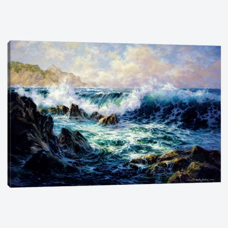 Morning Surf Canvas Print #BOE111} by Nicky Boehme Canvas Art Print