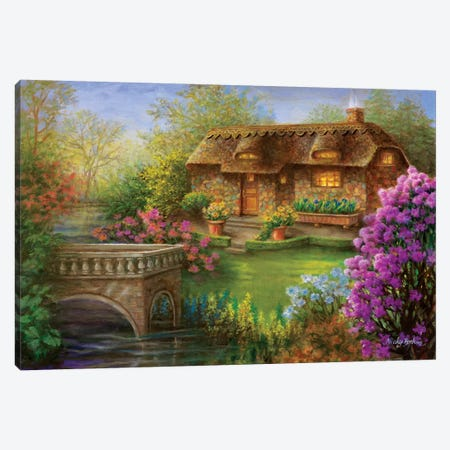My Summer Hideaway Canvas Print #BOE113} by Nicky Boehme Art Print