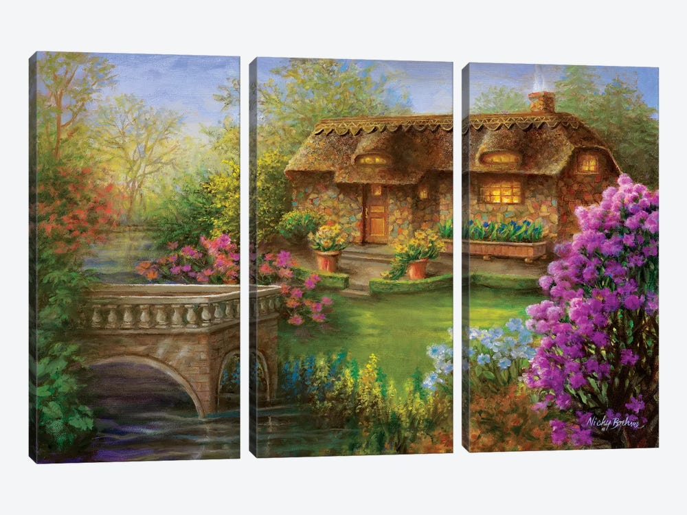 My Summer Hideaway by Nicky Boehme 3-piece Canvas Artwork