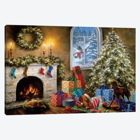 Not A Creature Was Stirring Canvas Print #BOE117} by Nicky Boehme Canvas Art