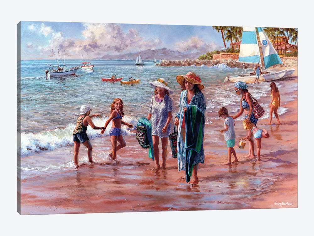 On The Beach by Nicky Boehme 1-piece Canvas Print