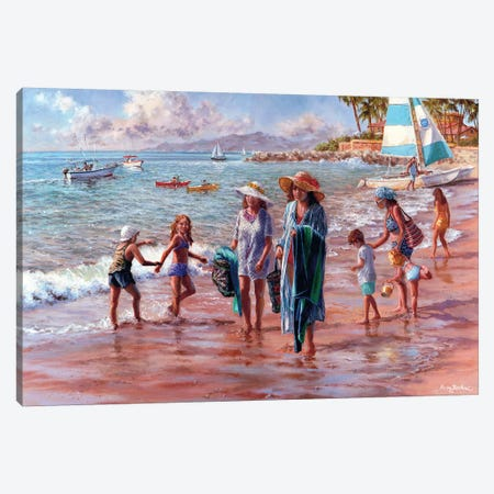 On The Beach Canvas Print #BOE118} by Nicky Boehme Art Print