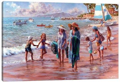 On The Beach Canvas Print #BOE118