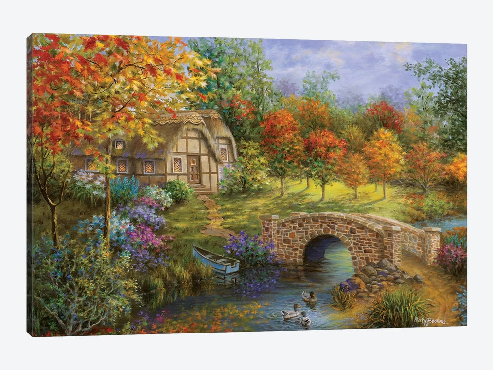 Autumn Beauty by Nicky Boehme 1-piece Canvas Art Print