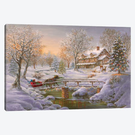 Over The Bridge To Grandma's House Canvas Print #BOE121} by Nicky Boehme Canvas Art