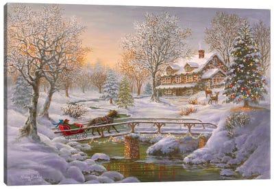 Over The Bridge To Grandma's House Canvas Art Print