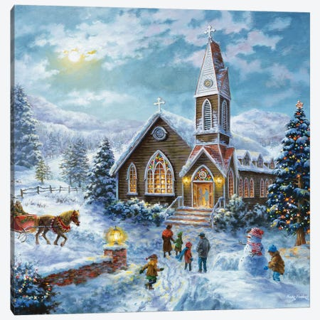 Parents Pray, Children Play Canvas Print #BOE122} by Nicky Boehme Canvas Art