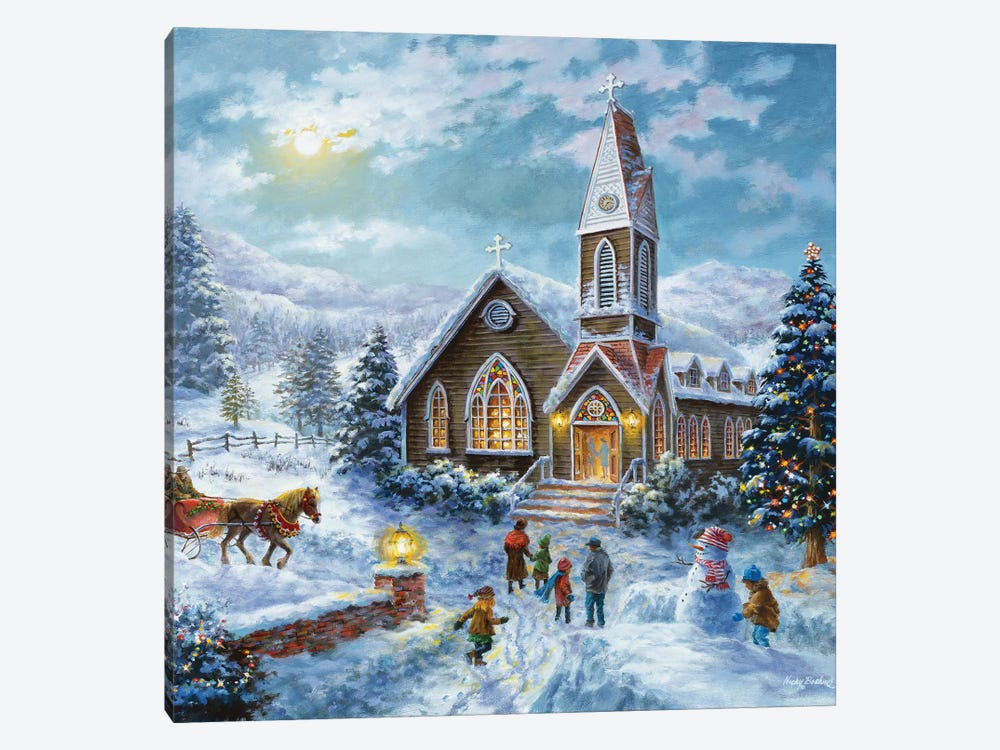 Parents Pray, Children Play by Nicky Boehme 1-piece Canvas Art