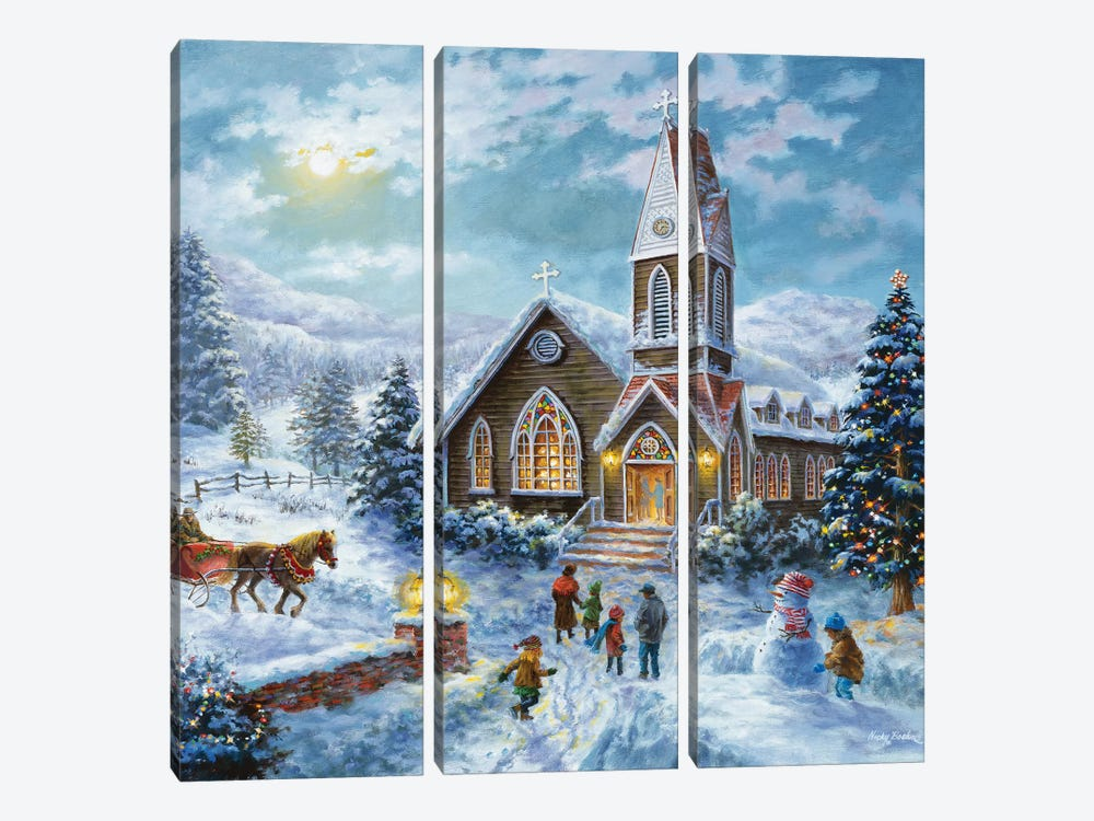 Parents Pray, Children Play by Nicky Boehme 3-piece Canvas Artwork