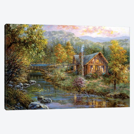 Peaceful Grove Canvas Print #BOE123} by Nicky Boehme Canvas Wall Art