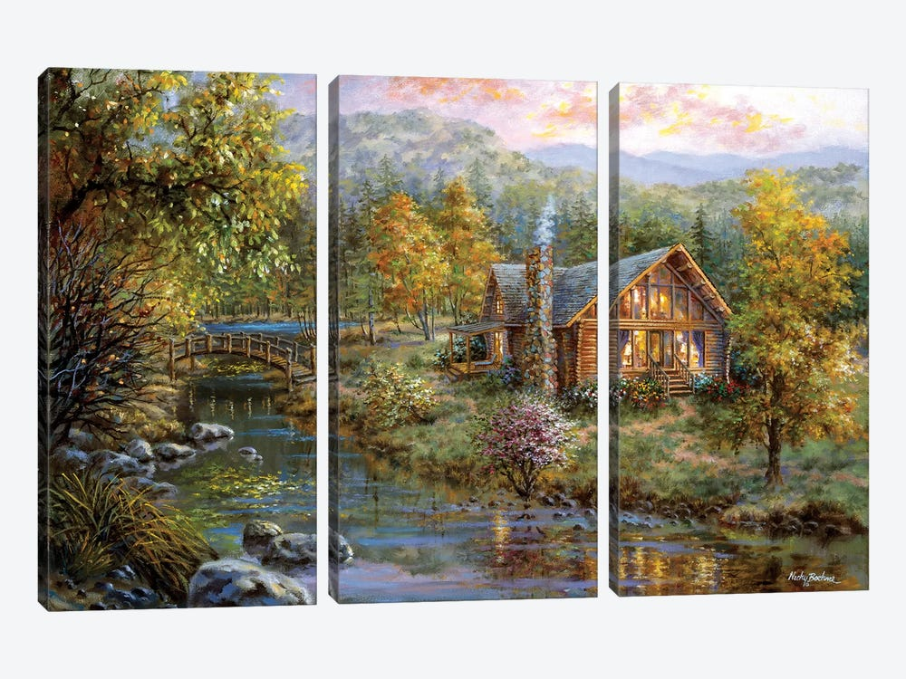 Peaceful Grove by Nicky Boehme 3-piece Art Print