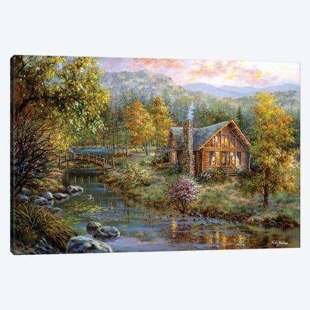Peaceful Grove Canvas Print #BOE123} by Nicky Boehme Canvas Wall Art