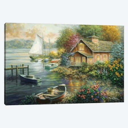 Peaceful Mooring Canvas Print #BOE124} by Nicky Boehme Canvas Art Print