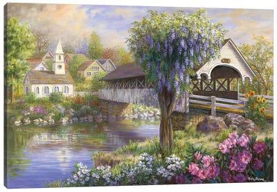 Picturesque Covered Bridge Canvas Art Print
