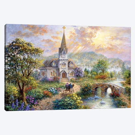 Pray For World Peace Canvas Print #BOE127} by Nicky Boehme Canvas Art Print