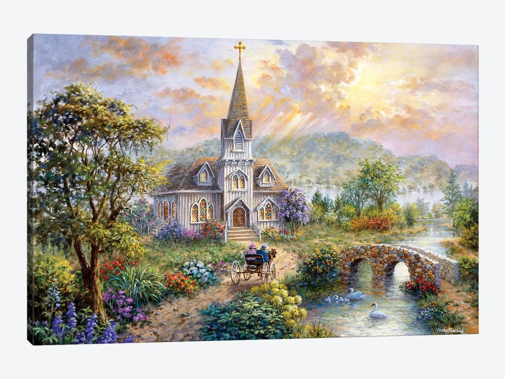 Pray For World Peace by Nicky Boehme 1-piece Canvas Print
