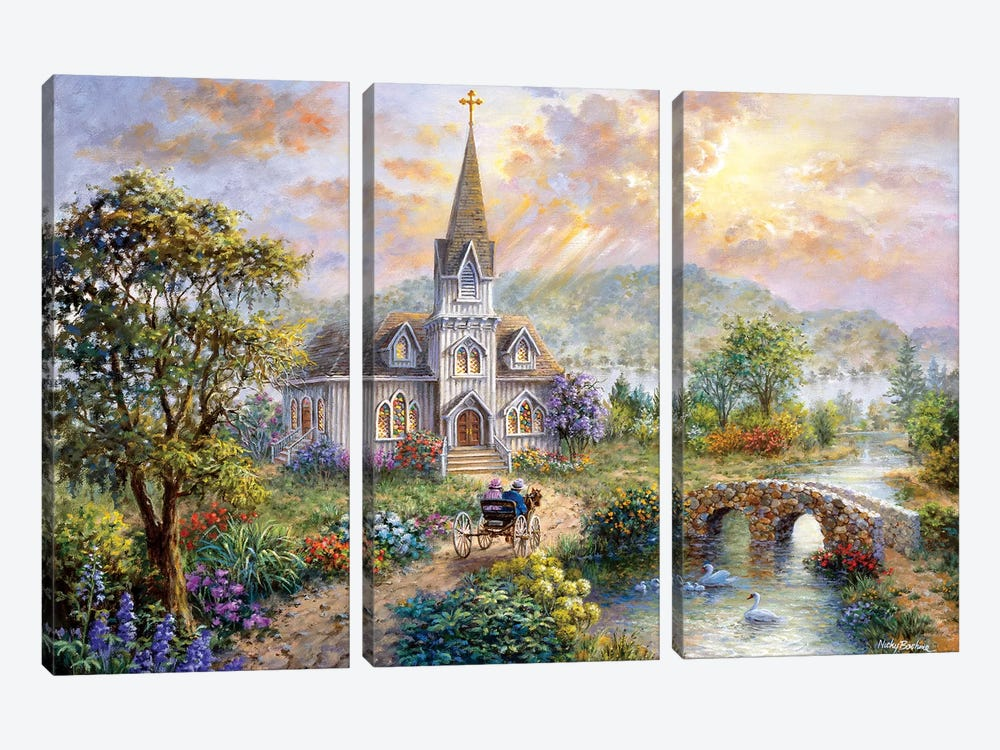 Pray For World Peace by Nicky Boehme 3-piece Canvas Art Print