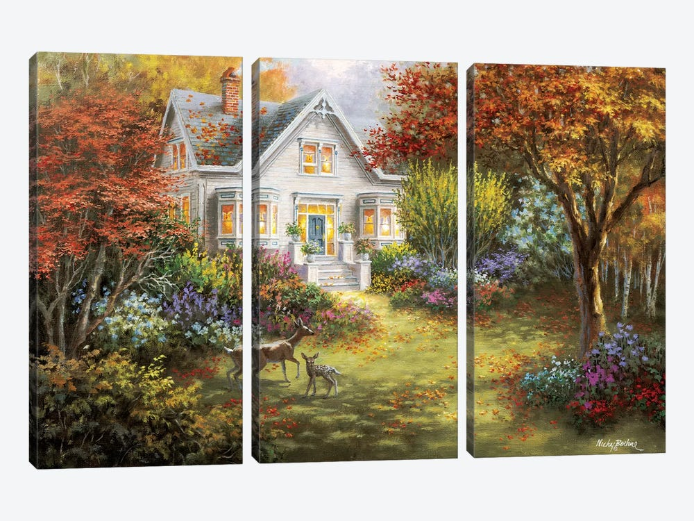 Autumn Overtures by Nicky Boehme 3-piece Canvas Wall Art