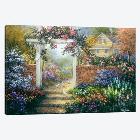 Rose Arbor Canvas Print #BOE131} by Nicky Boehme Art Print