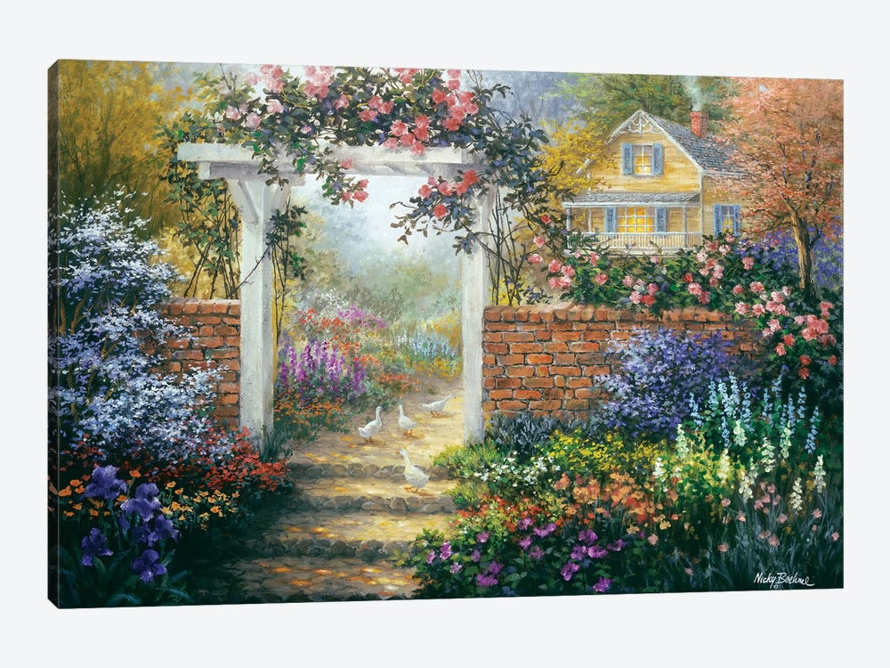 Rose Arbor by Nicky Boehme 1-piece Canvas Art