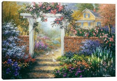 Rose Arbor Canvas Art Print