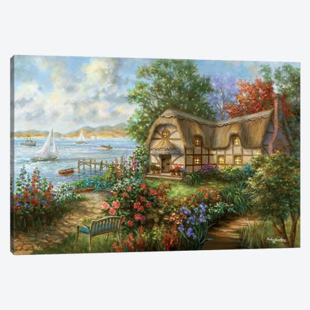 Seacove Cottage Canvas Print #BOE132} by Nicky Boehme Art Print