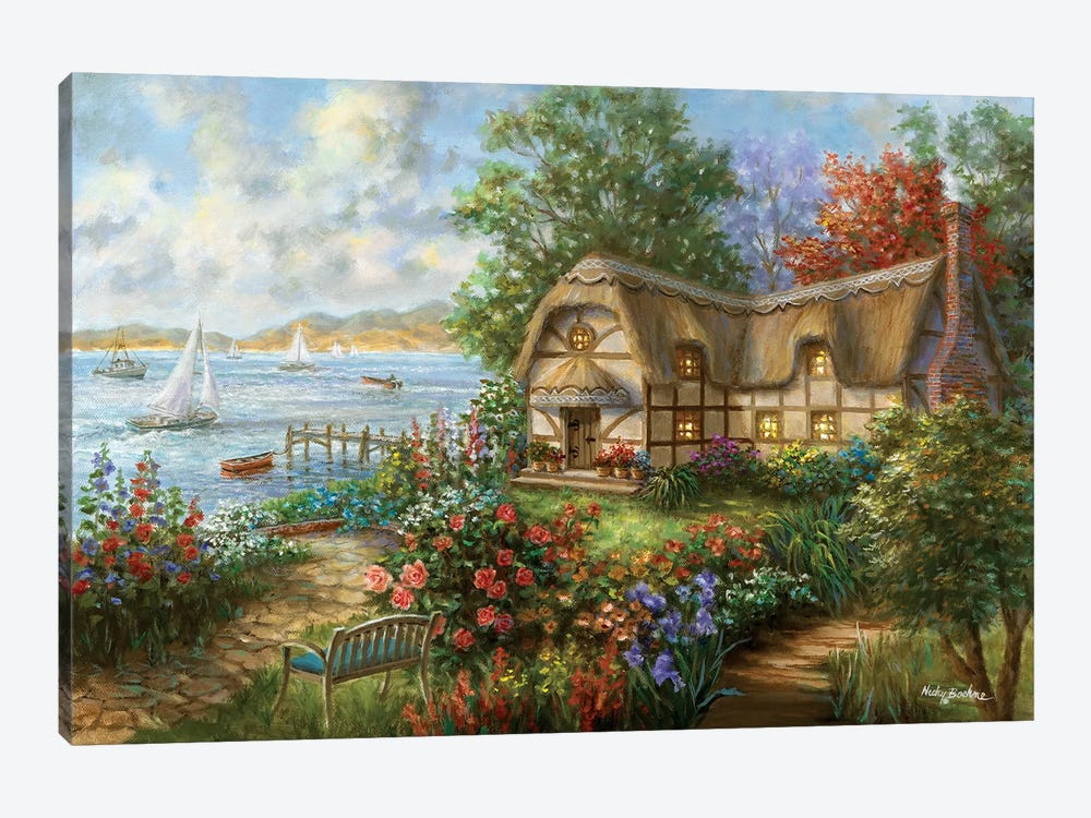 Seacove Cottage by Nicky Boehme 1-piece Canvas Print