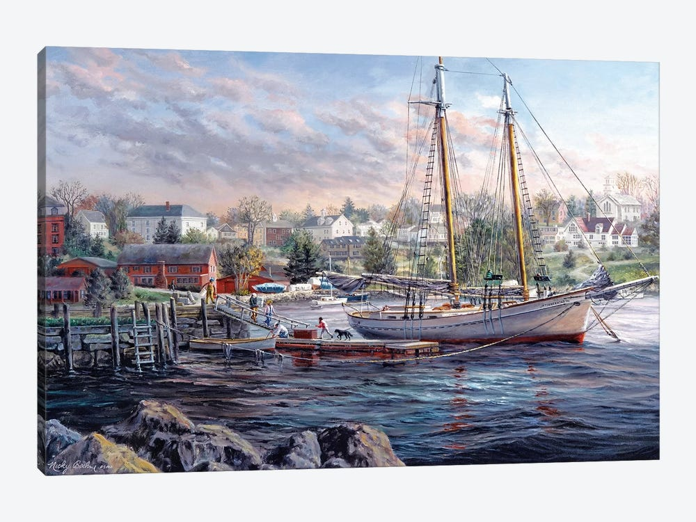 Seafarer's Delight by Nicky Boehme 1-piece Canvas Art