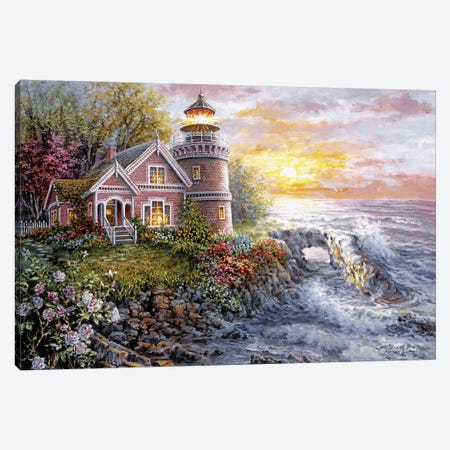 Seafarer's Vigilant Sentry Canvas Print #BOE134} by Nicky Boehme Canvas Art