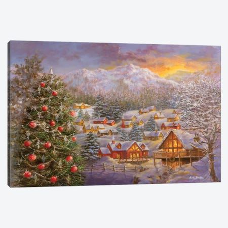 Season's Greetings Canvas Print #BOE136} by Nicky Boehme Canvas Wall Art