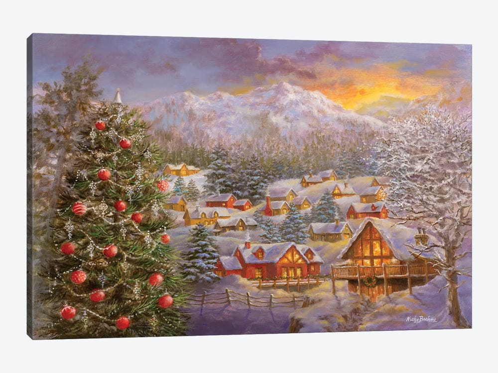 Season's Greetings by Nicky Boehme 1-piece Canvas Print